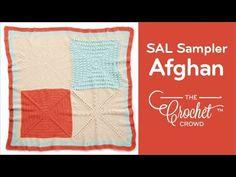 Crochet Stitch Along Sampler Afghan - Full Tutorial - YouTube