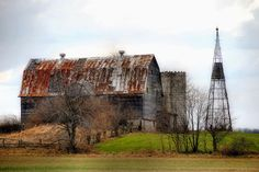 Old Barns And Windmills | Old Barn And Windmill Photograph - Old Barn And Windmill Fine Art ...