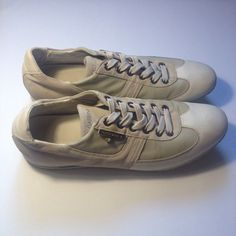 Dolce Gabbana Mens Casual Low Sneakers Leather Suede Indonesia Creme Size UK10 | eBay