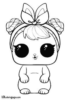 Lol Surprise Coloring Pages Pets # Pets desenho Mermaid Coloring Pages, Horse Coloring Pages, Cat Coloring Page, Cool Coloring Pages, Coloring Pages For Kids, Coloring Books, Kawaii 365, Cute Kawaii Girl, Stitch Coloring Pages