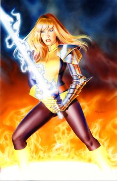 MAGIK Watercolor Commission by Mike Mayhew