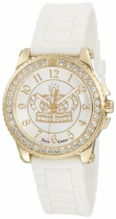 Juicy Couture Women's 1900705 Pedigree White Jelly Strap Watch Juicy Couture. $174.00. Arabic numerals. Crown embossed jelly strap. Juicy logo engraved caseback. White jelly strap with silver textured dial and large crystal embellished applied crown. Water-resistant to 99 feet (30 M)