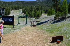 Horseshoe pit at Las Vegas Ski and Snowboard Resort. Group Picnic / Group Venue / Summer Venue / Company Picnic / BBQ / Outdoor Venue