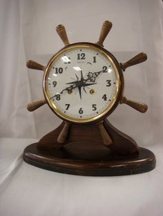 Vintage Nautical Mantle Clock. $60.00, via Etsy.