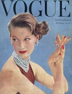 Vogue cover, March 1955.