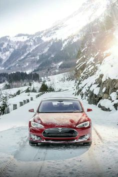 Tesla Motors: We took Model S to snowy Switzerland for a stunning drive. Send us your pictures of Model S in the snow so we can feature them! Thank you tesla-fan and all you wonderful fans of Elon Musk and Tesla like me for your beautiful comments. Tesla S, Tesla Motors, Enjoy The Ride, Small Luxury Cars, Best Suv, Tesla Roadster, Tesla Model X, Suv Cars, Electric Cars