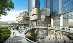 Memo from Shanghai: New Builds by Perkins+Will, Kengo Kuma, Benoy, and More Memo from Shanghai: New Arch Building, Mix Use Building, Building Exterior, Building Concept, Form Architecture, Commercial Architecture, Futuristic Architecture, Rotterdam Architecture, Commercial Complex