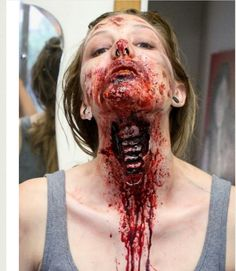 Oh how we love gore makeup