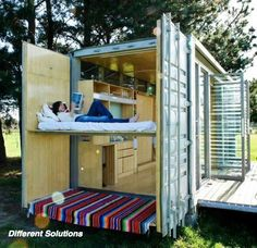 How cool would this be on the beach? Shipping Container Architecture: Portable shipping container holiday home, New Zealand Shipping Crate Homes, Shipping Crates, Shipping Container Homes, Shipping Containers, Container Architecture, Container Buildings, Architecture Art, Portable House, Tiny House
