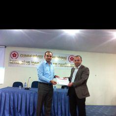 CÜ İİBF Dekanı sayin Ahmet Uzun (prof. dr.) tesekkur belgemi takdim etti ;)