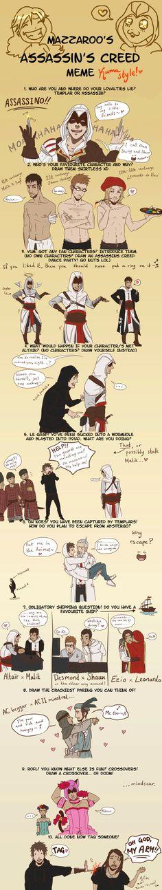 Kuma no ASSassin's Creed meme by Kumagorochan on DeviantArt