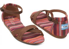 Pink Stripes Mix Women's Correa Sandals hero-I NEED THESE