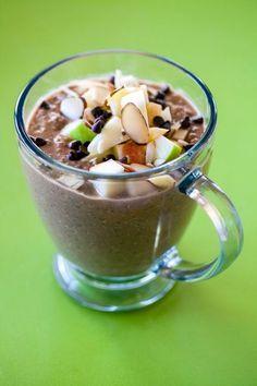 Easy Breakfast In A Mug Recipes: Chocolate PB Quinoa Oatmeal Breakfast In A Mug, Breakfast Recipes, Breakfast Ideas, Mug Recipes, Cooking Recipes, Recipies, Quinoa Oatmeal, Healthy Food Options, Healthy Recipes
