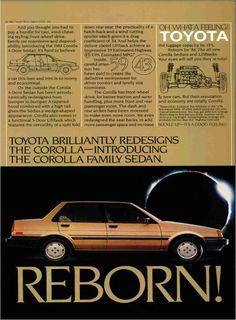 1984 Toyota Corolla ad.