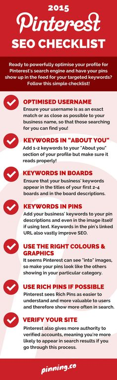 2015 Pinterest SEO Checklist  Stop by my Shop www.etsy.com/shop/teolddesign  Stop by my Etsy Shop: www.etsy.com/shop/TeoldDesign