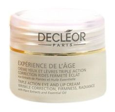 Decleor Experience De L'Age Eye & Lip Cream Wrinkle Firmness Radiance 0.5 Oz. - For Sale Check more at http://shipperscentral.com/wp/product/decleor-experience-de-lage-eye-lip-cream-wrinkle-firmness-radiance-0-5-oz-for-sale/
