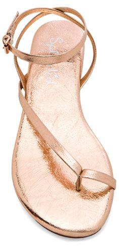 pretty rose gold summer sandals