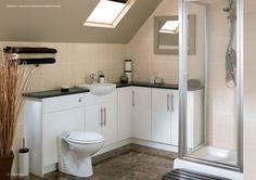 Floor Mounted L-Shaped Corner Wall Unit | Cistern Unit |  Vanity Unit