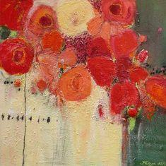 """Philippin, Inge, """"Red Roses 2"""" (6) Mit einem Klick auf """"Als Kunstkarte versenden"""" versenden Sie kostenlos dieses Werk Ihren Freunden und Bekannten."""
