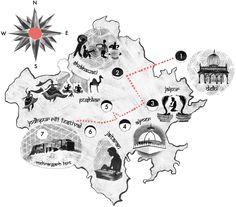 Rajasthan music map by Hannah Bailey