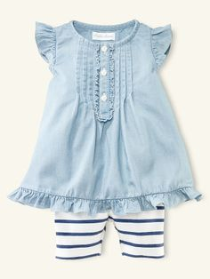 Tunic & Striped Legging Set - Layette Outfits & Gift Sets - RalphLauren.com