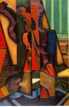 Juan Gris ~ Violin and Guitar, 1913 (oil)