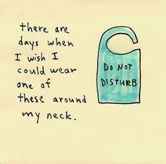 Image result for introverting do not disturb