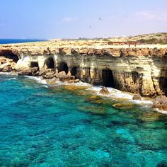 Sat a few miles out of ayia napa are these caves that are great to cliff jump off and then explore! Discovered by Chris Atkin at Sea Caves, Cyprus