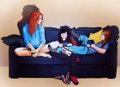 Danny, Carmilla, and Laura.