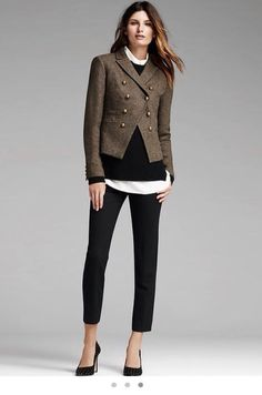 Amazing outfit! Banana Republic of course.