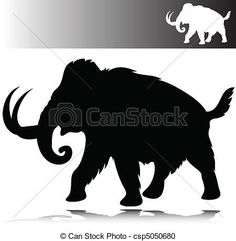 Vector - mammoth vector silhouettes - stock illustration, royalty free illustrations, stock clip art icon, stock clipart icons, logo, line art, EPS picture, pictures, graphic, graphics, drawing, drawings, vector image, artwork, EPS vector art