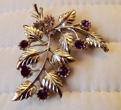 Vintage style #blackberry #brooch. costume #jewellery.,  View more on the LINK: http://www.zeppy.io/product/gb/2/122342774066/
