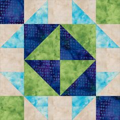 broken+dishes+quilt+pattern+free | Close-up Look at the Broken Dishes Quilt Block
