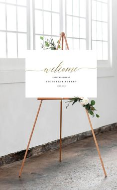 SALE  Welcome to our Wedding Sign Template Welcome Wedding