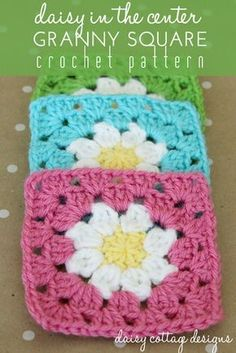 This adorable granny square pattern is simple and beautiful. Perfect for blankets or coasters! ༺✿ƬⱤღ https://www.pinterest.com/teretegui/✿༻