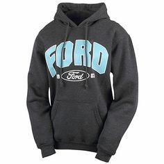 Ford art, a double-lined drawstring hood, front pouch pockets, and stretchy Lycra® cuffs and waistband. Pairs nicely with Charcoal Heather. Country Girls Outfits, Country Girl Style, My Style, Country Sweatshirts, Country Shirts, Ford Clothing, Ford Girl, Girls Accessories, Truck Accessories