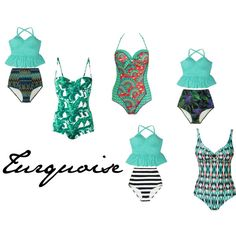 Turquoise Swimwear by khill-iv on Polyvore featuring Dolce&Gabbana, Lygia & Nanny and Paolita