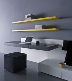 Simple and Modern Minimalist Office Desks Design Layouts by Pianca on vithouse.com