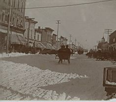 1900's Downtown Alma at the corner of Superior and State streets :: Archival photographs