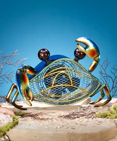 Look at this Blue Crab Metal Fan on #zulily today!