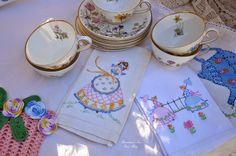 """Bernideen's Tea Time Blog: WILDFLOWER TEA SET for """"Wildflower Tea In The Garden"""""""