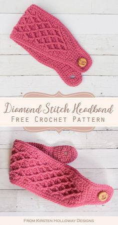 Diamond Stitch Free Crochet Headband Pattern This beautiful diamond stitch headband with button closure is a quick crochet project that will keep your ears warm this winter. It can be made to fit kids or women. Crochet Twist, Crochet Fox, Crochet Beanie, Crochet Gifts, Doilies Crochet, Crochet Headband Tutorial, Easy Crochet Headbands, Free Crochet Headband Patterns, Quick Crochet Patterns