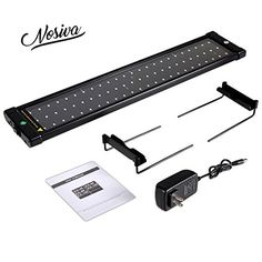 NOSIVA LED Aquarium Light (21-27 In), LED Aquarium Hood Fish Tank Light with Extendable Brackets (White and Blue LEDS) *** You can get more details by clicking on the image.