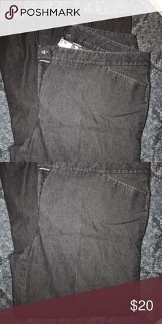 Dark Gray wide leg jeans Dark gray wide leg jeans. Worthington Jeans Flare & Wide Leg
