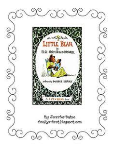 Little Bear FREE literacy activities