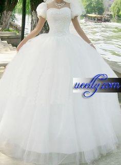 White Victorian Gothic Lolita Ball Prom Wedding Dress on www.ueelly.com