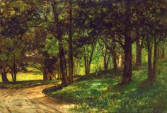 Untitled (landscape with trees) by Edward Mitchell Bannister
