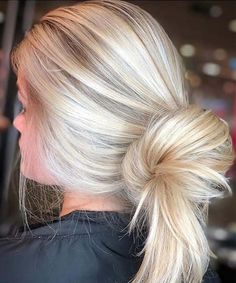 Fascinating Rolled Up Long Blonde Hairstyles for Women