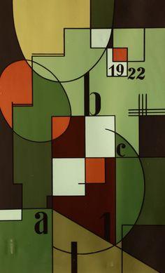 Bortnyik Sándor (1893-1976): Képarchitektúrapapírnyomat, 57 x 35 cm 1922