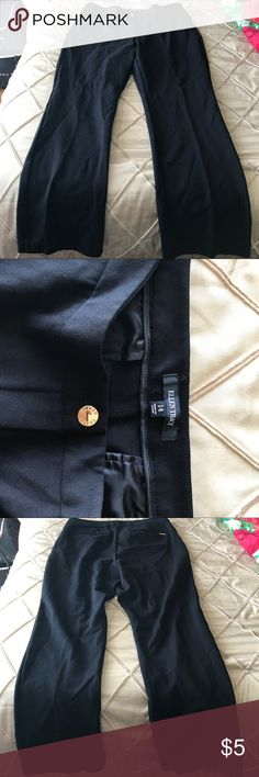 """Ellen Tracy black slacks Black slacks - lined. Pockets and front crease - stretch material. Inseam is 30 1/2"""". Pants Trousers"""